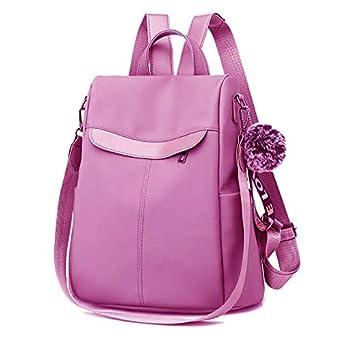PAGWIN Cute Style Female Student Oxford Waterproof Anti Thief School Bags Backpack Girls Daily Backpack Sling Bag (PG-0117, Grey)