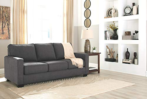 Signature Design by Ashley - Zeb Queen Size Contemporary Sleeper Sofa, Charcoal