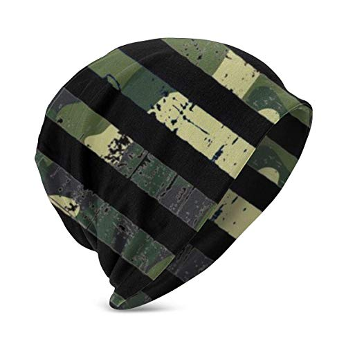 Mxung USA Army Camo Flag Organic Beanie Boys Slouchy Kids Warm Knit Hat Niñas