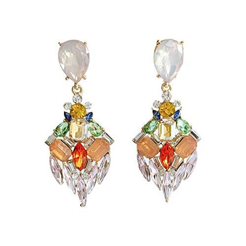 Tangpingsi, accesorios de moda, pendientes de cristal de diamantes de imitación irregulares de lujo, pendientes largos, pendientes largos, accesorios de joyería para mujer