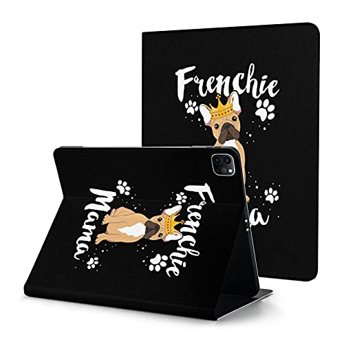 French Bulldog Frenchie Mama Case for iPad Pro 11 Inch case with Pencil Holder 2nd Generation 2020 Auto Sleep Wake Case Cover