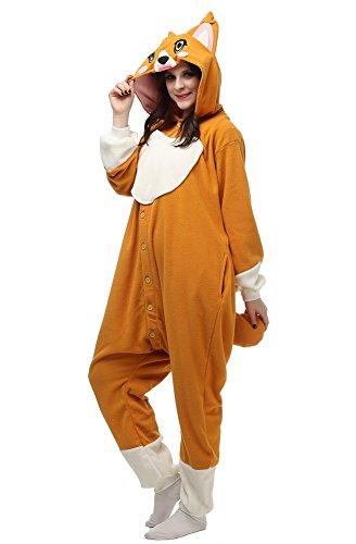 luyao188 Unisex Adult Khaki Dog Pyjamas Christmas Costume One Piece Animal Cosplay Onesies Small