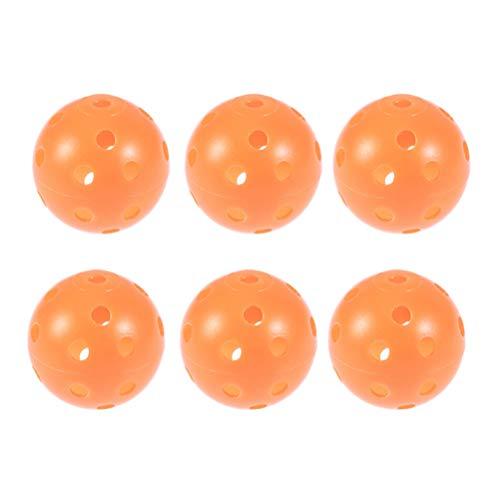 VOSAREA 12 stücke Kunststoff Golf Trainingsbälle Luftstrom Hohl Auswirkungen Golfbälle Kinder Ball Spielzeug für Driving Range Schaukel Praxis Heimgebrauch (Orange)