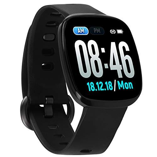 Fullmosa Smartwatch, Fitness Tracker 1,3 Zoll Touchscreen IP67 Wasserdicht mit Pulsmesser Schlafmonitor, Armbanduhr Schrittzähler Kompatibel iOS Android, Sportuhr für Damen Herren (SW-103)