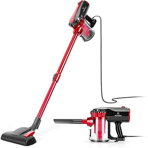 MooSoo Vacuum Cleaner, 17000Pa Lightweight Stick Corded Vacuum with High Density HEPA, 600W Motor,...