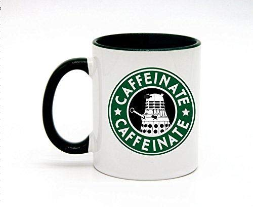 HOMEMUG Koffie Mokken Top Cafeïne Cafeïne Wit Keramisch Grappige Koffie Thee Cup,11 Ounce