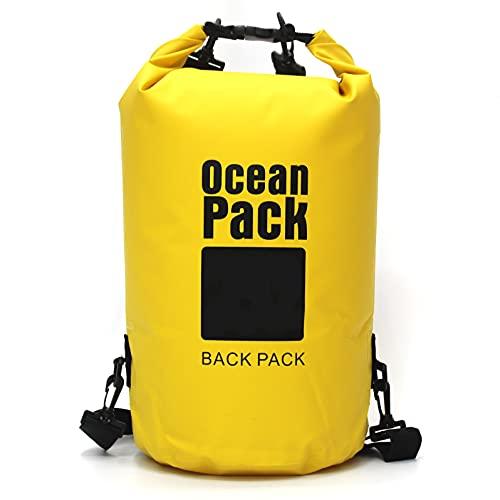 Micacorn Wasserdichter Beutel, 5L Dry Bag Lang Verstellbarer Schultergurt Wasserdichter Taschen für Kajakfahren, Bootfahren, Kanufahren, Rafting, Wandern, Schwimmen, Camping, Snowboarden