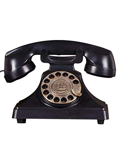 qwertyuio Nostálgico Vintage Teléfono Duke Nostálgico Vintage Teléfono con Botón Pulsador - Cable Teléfono con Tono De Campana Auténtico Disco Giratorio Teléfonos Fijos Antiguos Y Antiguos I