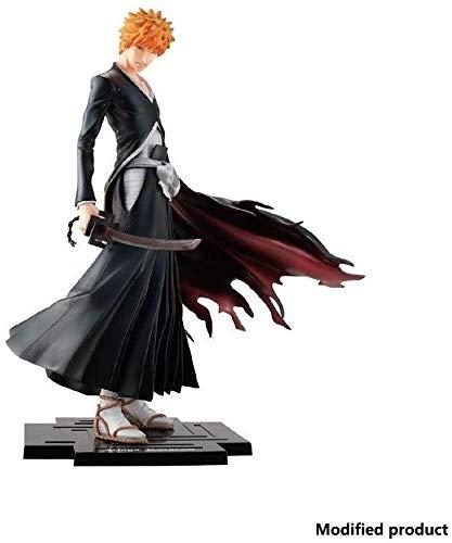 Tritow La película del Animado Carácter Figurita Samurai Pequeño StatueAround película Bleach Ichigo Kurosaki Figura PVC -Anime Adornos de Juguete Cielo Cerraduras la Luna - Alto 23cm