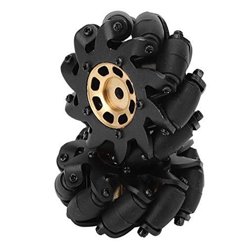 Onewer Neumático RC, Rueda RC, 2 Unids / Set Neumáticos Omnidireccionales de Modificación de Ruedas Mecanum de 60mm para Modelo de Coche