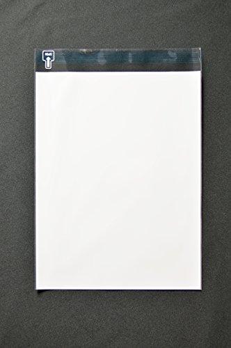 印刷透明封筒 角3 【500枚】 OPP 50μ(0.05mm) 表:白ベタ 切手/筆記可 静電気防止処理テープ付き 折線付き 横216×縦280+フタ30mm印刷可