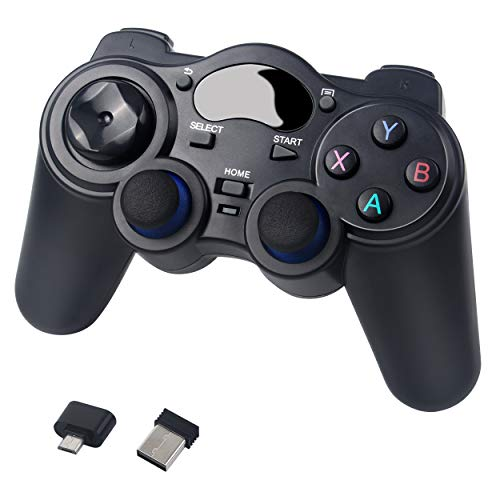 2.4 G Wireless Bluetooth Gaming Game controller Gamepad per il telefono Smart TV computer-Nero