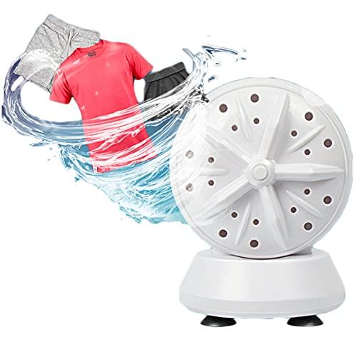 LYKH Lavadora Portatil Ajustable, Ultrasónica Rotación De Turbinas Lavadoras, Alimentado por USB para Viajes Caravanas Camping Lavandería Viajes En El Hogar