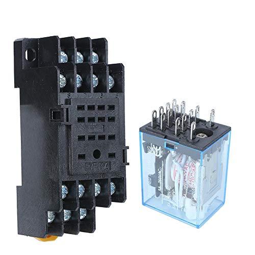 Leistungsrelais, Spule, MY4NJ, elektromagnetische Leistung, 14 Pin, normalerweise offen, 4 Stecker auf DIN-Schiene, normalerweise geschlossen (220 V)