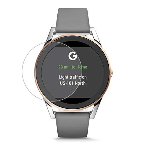 Disscool gehard glas Screen Protector voor Fossil mannen Gen 4 Sport hartslag Smartwatch(43 mm), 0,33 mm dikte met echt glas