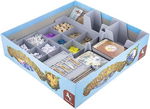 Feldherr Organizer kompatibel mit Spirit Island - Grundspiel + AST und Tatze - Brettspielbox
