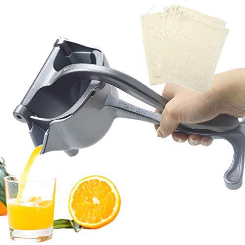 SHANGPEIXUAN Manual Fruit Juicer Alloy Lemon Squeezer Citrus Press Heavy Duty Hand Press Teflon Fruit Juicer Detachable Lime Squeezer