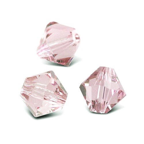 Charming Beads Filo 100+ Rosa Cristallo Ceco 3mm Bicono Sfaccettato Perline GB8644-1