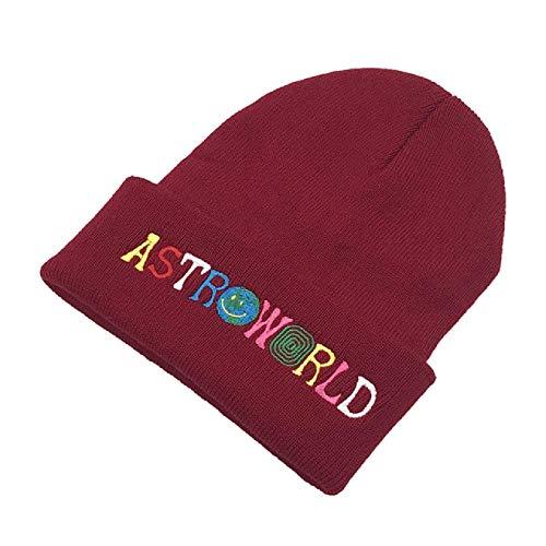 U/A Strickmütze Mütze Stickerei Ski halten warm Winter Unisex Schädel Mütze