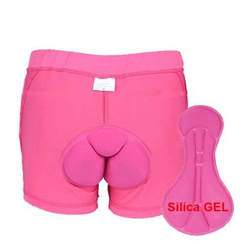 Pantalones cortos Ropa Interior Ciclista MTB Hombres Mujeres Deporte Prueba de Golpes Gel del cojín de la Bicicleta de montaña (Color : Type 3, Size : S)