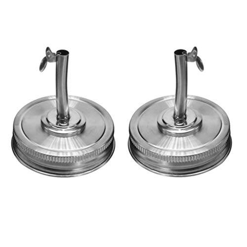 LIOOBO Mason Jar Verter Tapas de Acero Inoxidable Mason Jar Infusiones de Aceite Tapa Licor Dispensador de Vertido de Aceite con Tapas 70Mm