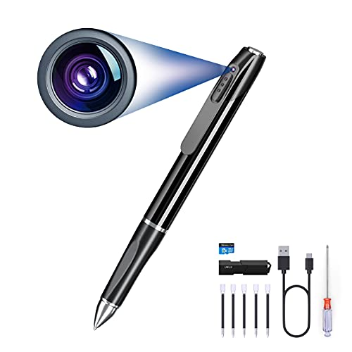 Spy Pen Camera , Hidden Mini Camera with 32GB SD Card, Spy Cam Can Record Continuously for 75 Minutes, Camera Pen with Picture Taking, Mirco Camera for Home ,Conference and Classroom Learning