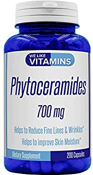 Phytoceramides 700mg - 200 Capsules All Natural Wheat Free and Plant Based - Phytoceramide Supplement - 700 mg per Serving - Skin Hydration Repair Rejuvination.
