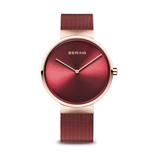 BERING Unisex-Armbanduhr Analog Quarz Uhr mit Edelstahl Armband 14539-363