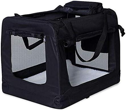 Bolsa de Transporte lionto para perros y gatos plegable (L) 70x52x50 cm Negro