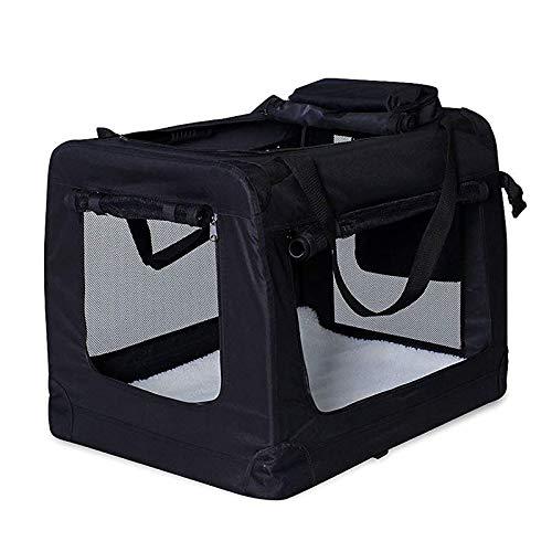 dibea Transportín para Perros Bolsa transportín para Perros Transportín Plegable Autobox Bolsa para Animales pequeños (50x34x36 cm (S), Negro)
