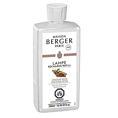 MAISON BERGER Holiday Spice Lampe Berger Refill for Home Fragrance Oil Diffuser, 16.9 Fluid Ounces-500 milliliters