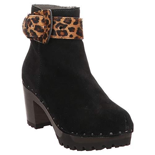Softclox | Oralie | Stiefelette - schwarz Leo, Farbe:schwarz, Größe:40