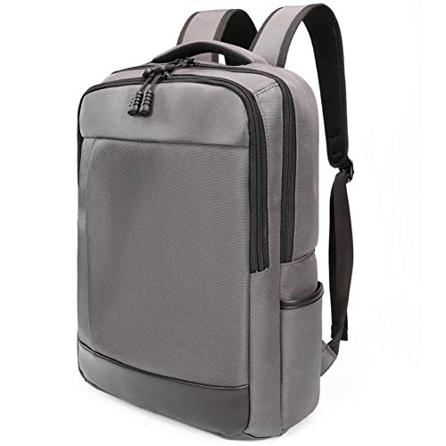 15.6 Inch Laptop Backpack for Men Slim Waterproof Bussiness Computer Bag with Multi Pocket for College School Travel (Grey)