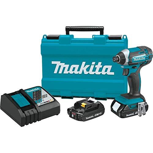 Makita XDT11R 18V Compact Lithium-Ion Cordless Impact Driver Kit, Teal,
