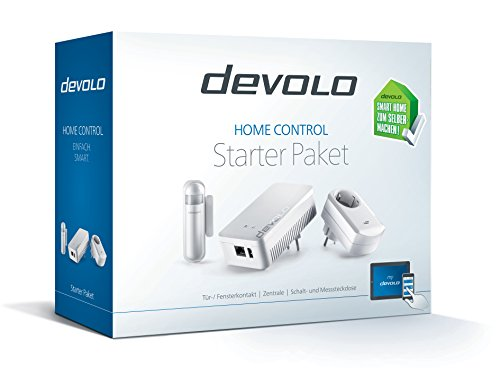 devolo Home Control Starter Paket (Z-Wave Hausautomation, Haussteuerung per iOS/Android App, einfache Installation, Smart Home Starter Set: Zentrale, Schaltsteckdose, Türkontakt, Fensterkontakt) - 2