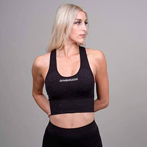 Gymbassador   Sport BH, Sportsbra, Bra Damen (Slim Fit, Pushup)   Funktionell für Sport, Fitness, Training, Workout, Gym, Yoga, Freizeit   Seamless, Nachhaltig, Gepolsterte Cups