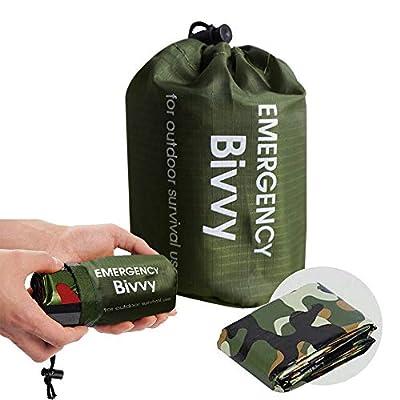PIXRIY Emergency Sleeping Bag Waterproof Thermal Bivy Bag Sack Survival Sleeping Bag, Emergency Blanket Lightweight Portable Life Saving for Camping, Hiking, Outdoor, Activities