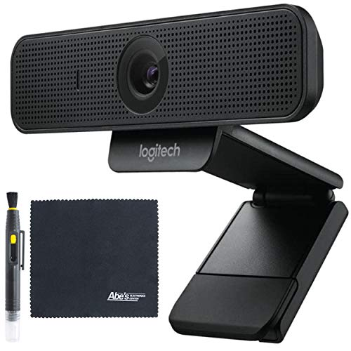 Logitech C925-e Business Webcam with HD Video and Built-in Stereo Microphones (960-001075) + AOM Starter Bundle