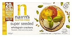 Our Gluten Free Super Seeded Wholegrain Crackers are full of delicious flax, millet and chia seeds, which makes them even more crunchy and so tasty, you can enjoy them with or without a topping. These seeds are a great source of protein, as well as ...