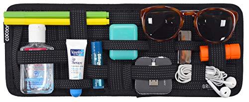 Cocoon GRID-IT - Organisateur de pare-soleil de voiture avec bandes élastiques / Rangement pour accessoires / Accessoires auto / Noir/34,4x1,7x13,3cm