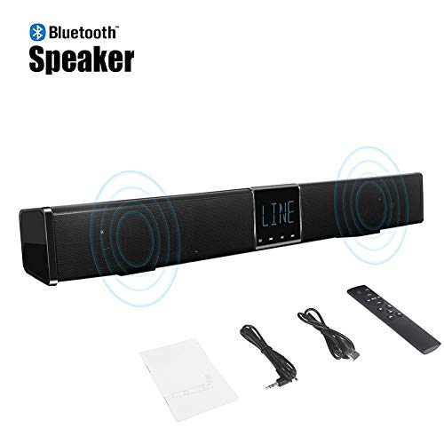 Speaker-EJOYDUTY Wandmontage soundbar voor tv, met geïntegreerde subwoofer surround sound, draadloos Bluetooth Home Entertainment-systeem, luidspreker voor pc, mobiele telefoon