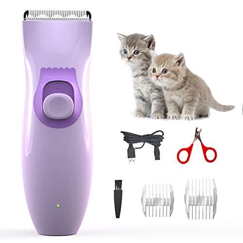Elektrische huisdierentondeuse Geluidloze draadloze tondeuse voor honden, IPX7 waterdichte hondentondeuse-tondeuse Kit voor huisdierenverzorging, hondenscheerapparaat met 2 kammen