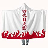 Red Clouds Anime Throw Blanket Flannel Fleece Blanket Cosplay Hooded Cloak Shawl Wrap Nap Quilt 80x60 (C, 80''X60'')
