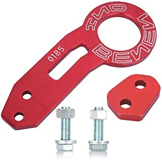 yunanwa Rear Tow Towing Hook for Universal Car Auto Trailer Ring Aluminum Alloy (Red)