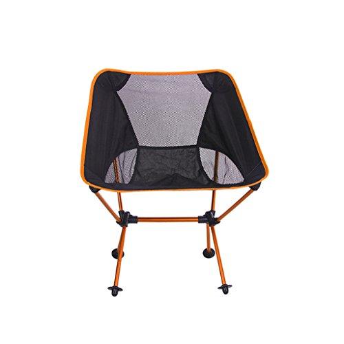 Hony Camp Klappstuhl - Stuhl Aufklappen Draussen Tragbar Ultraleicht Leicht Aluminium zum Camping Angeln Jagd Picknick Reise Garten BBQ