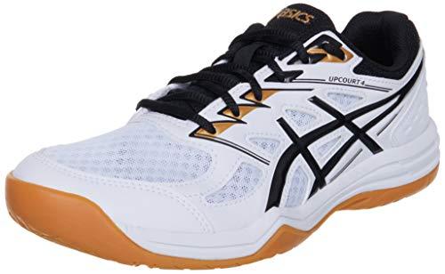 Asics Upcourt 4, Indoor Court Shoe Hombre, White Black, 44 EU