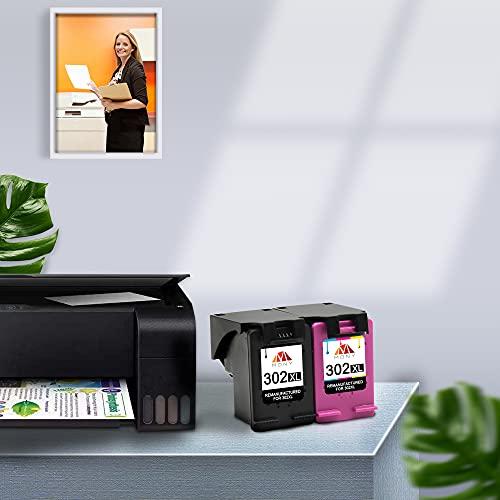 Mony Remanufacturado Cartuchos de Tinta Reemplazo para HP 302 XL 302XL (1 Negro, 1 Tricolor) Compatible con HP Envy 4520 4527 4524 Deskjet 3630 2130 2132 3637 3636 3638 Officejet 4652 3830 Impresora