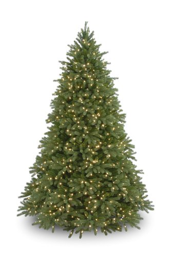 National Tree 7.5 Foot 'Feel Real' Jersey Fir with 1250 Clear Lights (PEJF1-300-75)