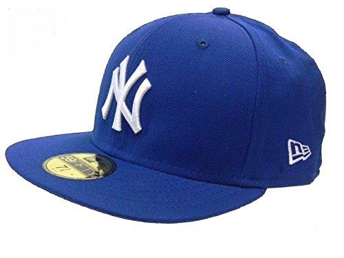 New Era Erwachsene Baseball Cap Mütze Mlb Basic New York Yankees 59Fifty Fitted,10002059,Blau (Marine), 7