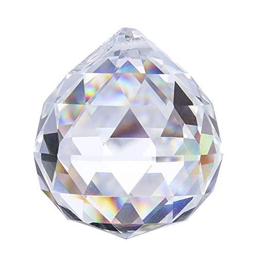 H&D HYALINE & DORA klar Schnitt Kristallkugelprismen Glaskugel facettierte anstarrende Kugel Hängender Sonnenfänger 80mm